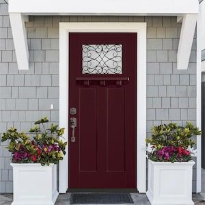 Masonite Wyngate 36 In X 80 In Fiberglass Craftsman Right Hand Inswing Currant Painted Prehung Single Door Brickmould Included Lowes Com In 2020 Entry Doors Front Door Easy Install Doors Patio doors add a beautiful touch to any home. entry doors front door