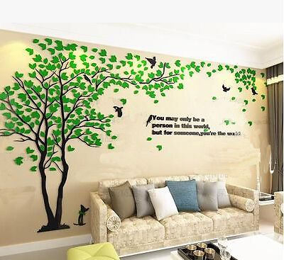 3d Diy Acrylic Wall Decals Adhesive Family Tv Wall Stickers Mural Art Home Decor Wall Stickers Living Room Home Wall Decor Wall Stickers Home Bedroom background wall decal