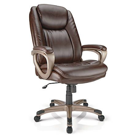 Brown Office Chair Ovalmag Com High Back Chairs Bonded Leather Leather Office Chair
