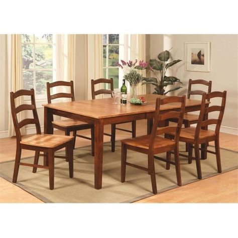 East West Furniture Henl9 Brn W 9 Piece Dining Table Set For 8