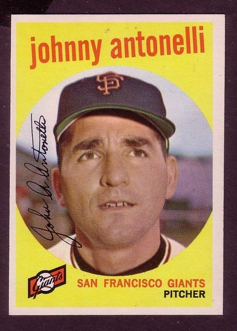 Details about 1959 TOPPS JOHNNY ANTONELLI CARD NO:377 NEAR ...