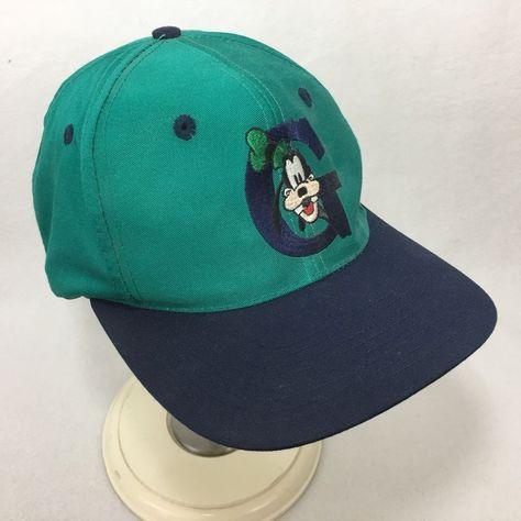6ba22d044 The Disney Store GOOFY Baseball Hat Embroidered Letter G Snapback Cap Adult  #Disney #BaseballCap