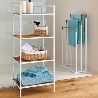 Die Eleganten Badmobel Aus Metall Bambus Bringen Mehr Ordnung Ins Bad Badezimmereinrichtung Badezimmerideen Wc Garnitur