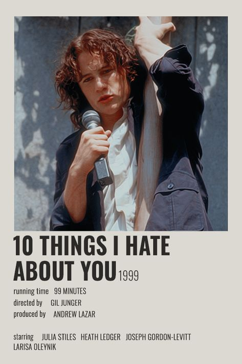 10 THINGS I HATE ABOUT YOU POLAROID POSTER