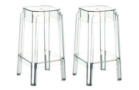 Tabouret De Bar Design Transparent 75cm Lot De 2 Clear Tabouret De Bar Tabouret De Bar Design Design Transparent