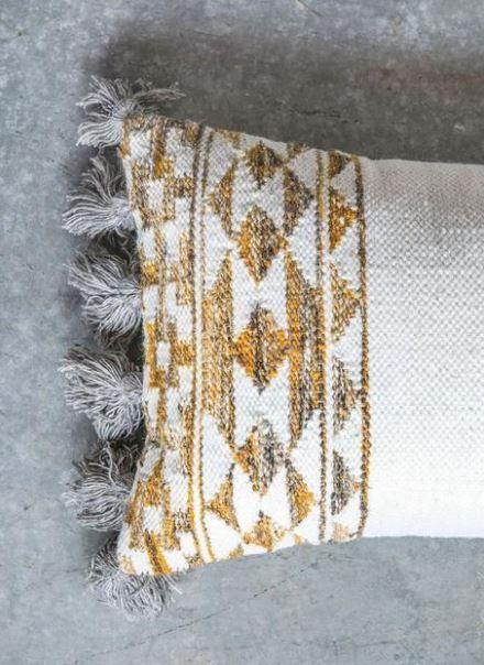 Cotton Hand Woven Throw Pillow w Kilim