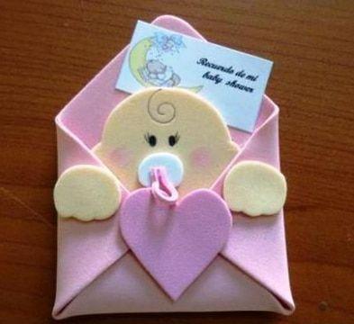 Sencillos Y Bonitas Figuras De Fomi Para Baby Shower Manualidades Tarjetas De Baby Shower Caritas De Bebes