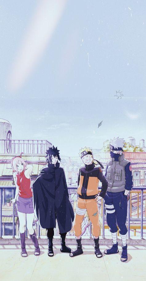 Naruto Team 7, Naruto Sasuke Sakura, Naruto Cute, Naruto Shippuden Sasuke, Hinata, Wallpaper Animes, Cute Anime Wallpaper, Naruto Wallpaper, Anime Backgrounds Wallpapers