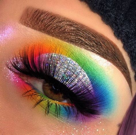 Makeup Tutorial Eyeshadow Blending, Makeup How To; Eye Makeup Step By Step Pictures even Best Natural Makeup Eyeshadow my Indian Eyeshadow Makeup Tutorial Makeup Eye Looks, Eye Makeup Art, Colorful Eye Makeup, Crazy Makeup, Cute Makeup, Skin Makeup, Eyeshadow Makeup, Eyeliner, Eyeshadows