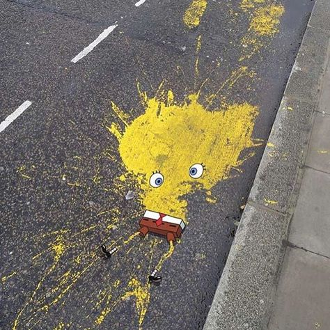 Sponge Bob splat. Caption this image for us.  Follow: @URBANSPOON