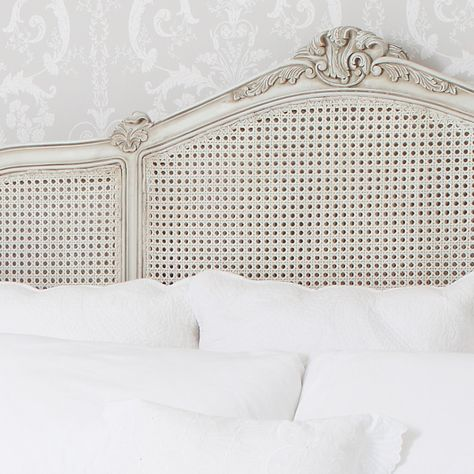French Grey Painted Rattan Bed|French Beds|Beds & Mattresses|French Bedroom Company