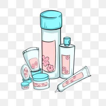 Hand Painted Cosmetics Female Beauty Skin Care Products Cream Png And Psd Produtos De Beleza Produtos De Cuidados Com A Pele Estetica E Cosmetica