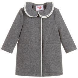 Girls Grey Wool Coat Gray Wool Coat Wool Coat Grey Coat