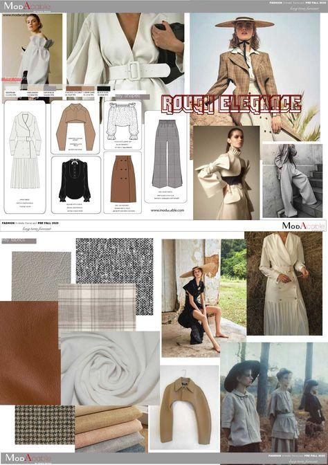 Pre Fall 2020 fashion trend Rough Elegance