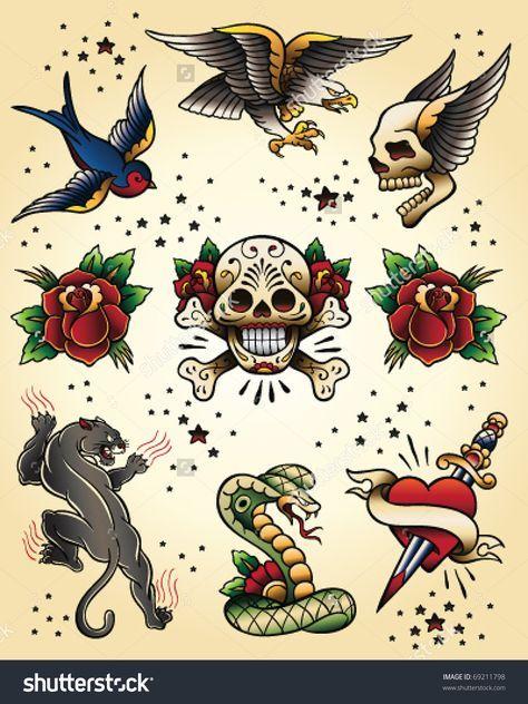 70 Trendy Tattoo Sleeve Vintage American Traditional In 2020 Classic Tattoo School Tattoo Traditional Tattoo