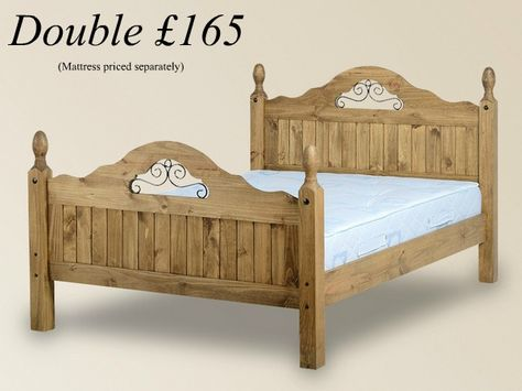 Salvador 4ft6 Double Traditional Wooden Bed Frame Waxed Pine Bedroom