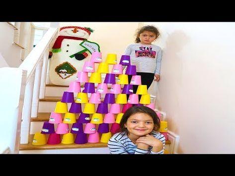 Masal Renkli Bardaklarla Merdivene Piramit Yapti Colored Cups And Oyku Pyramid Children S Video Youtube Masal Videolar Youtube