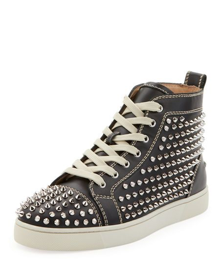 161bfb2c321 CHRISTIAN LOUBOUTIN Men's Louis Mid-Top Spiked Leather Sneakers ...