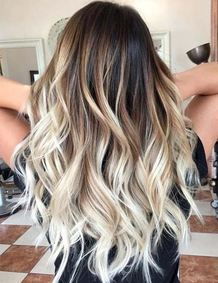 Evergreen Balayage Hair Colors For Long Hairstyles Brown Blonde