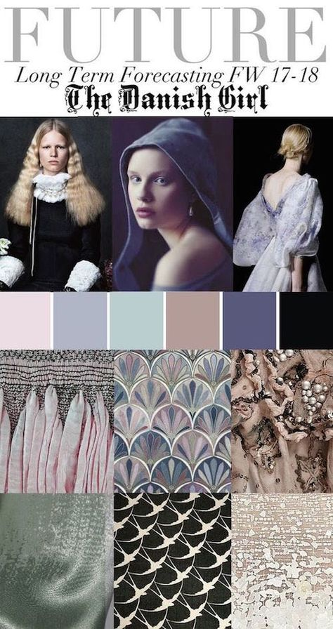 Spring 2016 Trend Report - Fashion Vignette : The Danish Girl, Pastel Birds, Texture