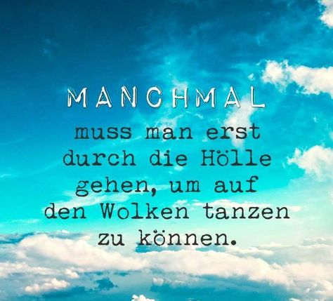 Manchmal ...