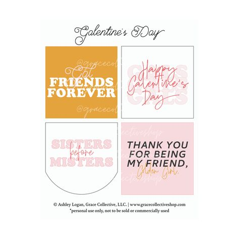 Galentine's Cards   Printable Set