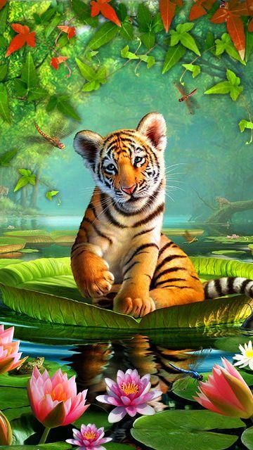 Portrait of A Tiger Needlepoint Canvas 362