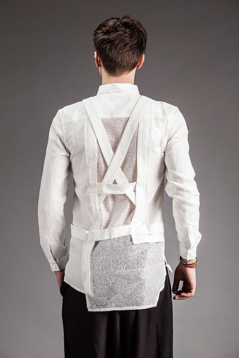 2017 Mens Independent Mens Clothing Summer Gauze Long Sleeve Shirt