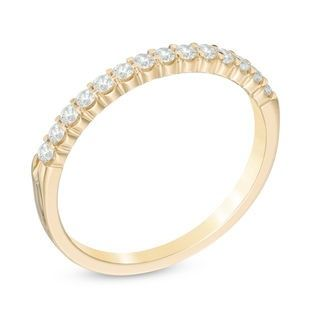 1 4 Ct T W Diamond Anniversary Band In 14k Gold Zales Outlet Diamond Anniversary Bands 14k Gold Wedding Band Anniversary Bands