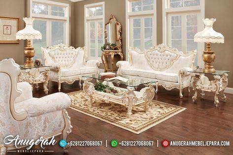 Set Sofa Ruang Tamu Mewah Model Eropa