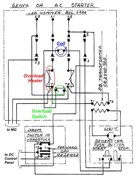 Paling Keren Contactor Symbol Electrical Drawing