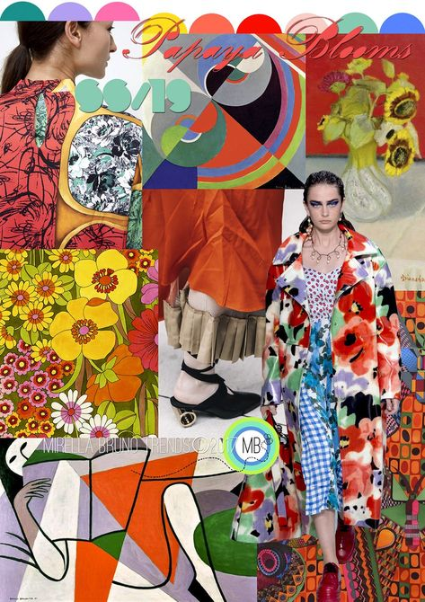 Papaya Blooms SS/19 - Mirella Bruno Print Pattern and Trend Designs. trends, Fashion, Interior, Color, Design, Kids, Pattern, Print, Summer, 2020, moodboard, ideas, ss19, 2019, spring, autumn, Winter, 2018, Insight, Floral, Accessories, Fashion Show, Beauty, board, Layout, Inspiration, Ss18, Mood Boards, Spring Summer, Color Patterns, Colour Palettes, Style #colorpatterns #colourpalettes #print #pattern #trends #2019 #2018 #design #moodboards #FashionTrends2019