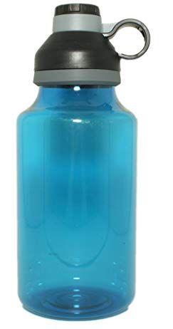 Silver One 64 Ounce Oz Xl Xxl Plastic Travel Water Bottle With Twist Off Cap Water Bottle Travel Water Bottle Bottle