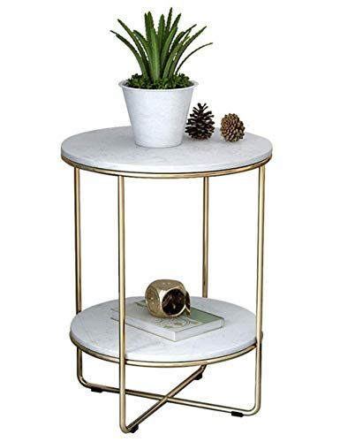 Living Room Coffee Table Wrought Iron Side Table Marble Table