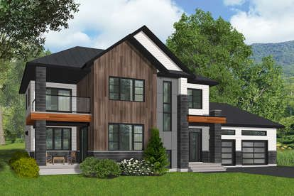 House Plan 6146 00390 Modern Plan 1 899 Square Feet 3 Bedrooms 2 5 Bathrooms Modern Style House Plans Contemporary House Plans Cottage Style House Plans