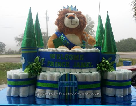 Prince of the Castle Diaper Cake... Coolest Birthday Cake Ideas