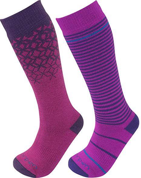 2-Pack Lorpen Merino Kids Ski Socks