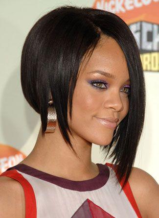 Rihanna Bob One Side Longer Hair Styles Current Hair Styles