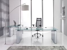 Glass Office Table Simple Modern Glass Desk Google Search Buero