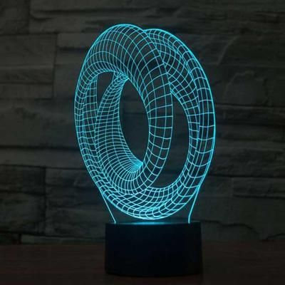 Abstract 3d Optical Led Illusion Lamps Lampeez 3d Illusion Lamp Night Light Visual Illusion