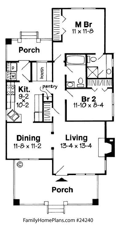 Bungalow Floor Plans | Bungalow, Porch Designs And Smallest House