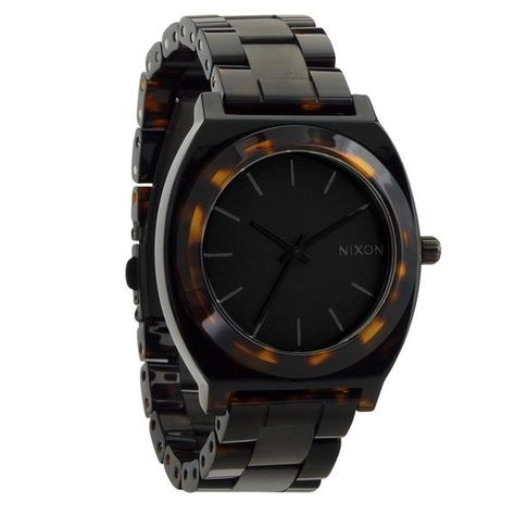 c1386e77bed7 Nixon  Time Teller Acetate Watch - Matte Black   Dark Tortoise ...