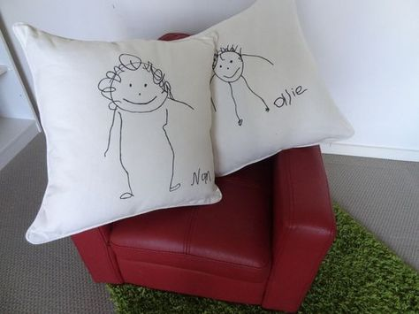Christmas Gift For Husband Who Doesnt Want Anything.Children S Drawing Turned Cushion Cover Christmas Gifts On