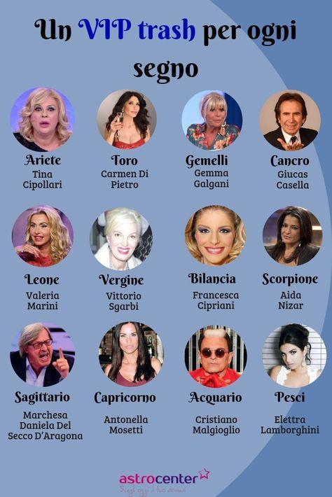 Qual è il VIP trash che ti rappresenta di più? 😜  #vip #trash #segni #segni #zodiacali #astrologia