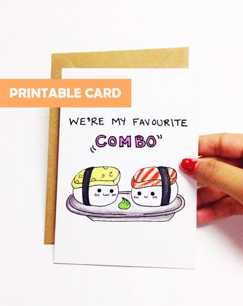 Were my favorite combo. ♥ Digital download for a PRINTABLE CARD ♥ PDF file available for download immediately upon purchase ♥ No need to pay for shipping! ♥ No need to wait for delivery by mail! ♥ Save money by going digital :)  Instructions: Please print the file on a 8.5 X 11 cardstock. Then, fold the paper down the middle horizontally, and cut the card into a 4.25 x 5.5 size! You can buy or make a matching envelope in A2 size - envelope is NOT included with this purchase. Technical support: A