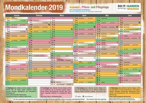 Doit Mondkalender 2019 De Garten