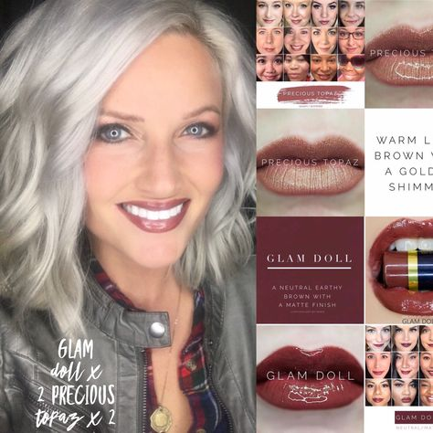 Glam doll Lipsense. Precious topaz Lipsense. Dark lip colors