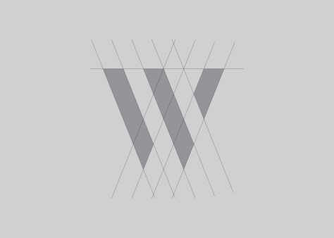 W V logo design