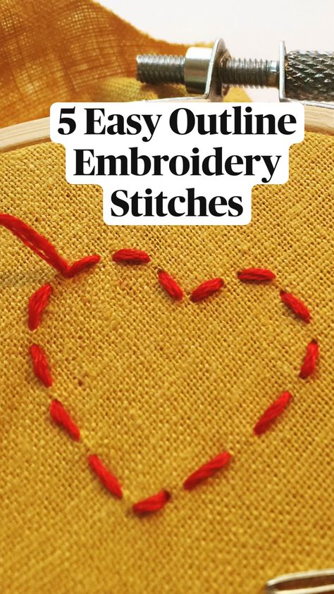 5 Easy Outline Embroidery Stitches