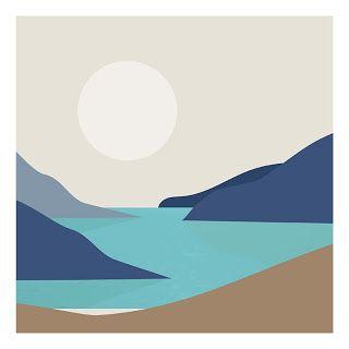 Landscape Illustration Art Gouache Art Canvas Art Painting Art Painting